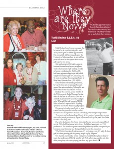 Todd Bindner profiled in Arkansas Razorback's Alumni Magazine